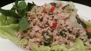 Thaise kipgehakt salade 1
