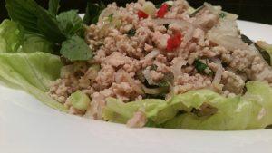 Thaise kipgehakt salade2